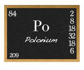 Polonium. — Fotografia Stock