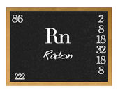 Radon, Rn. — Stock Photo