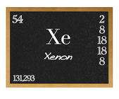 Xenon, Xe. — Stock Photo