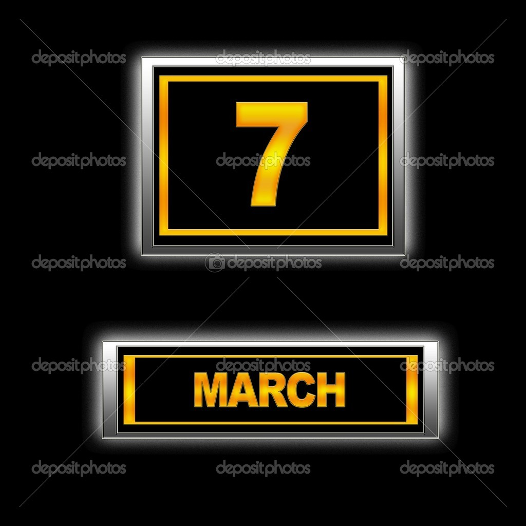 Illustration with Calendar, March 7. — Stock Photo #10172713