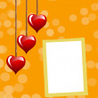 Valentine's day photo frame. — Stock Photo