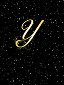 Letter Y gold. — Stock Photo