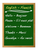Dictionary english - french. — Stock Photo