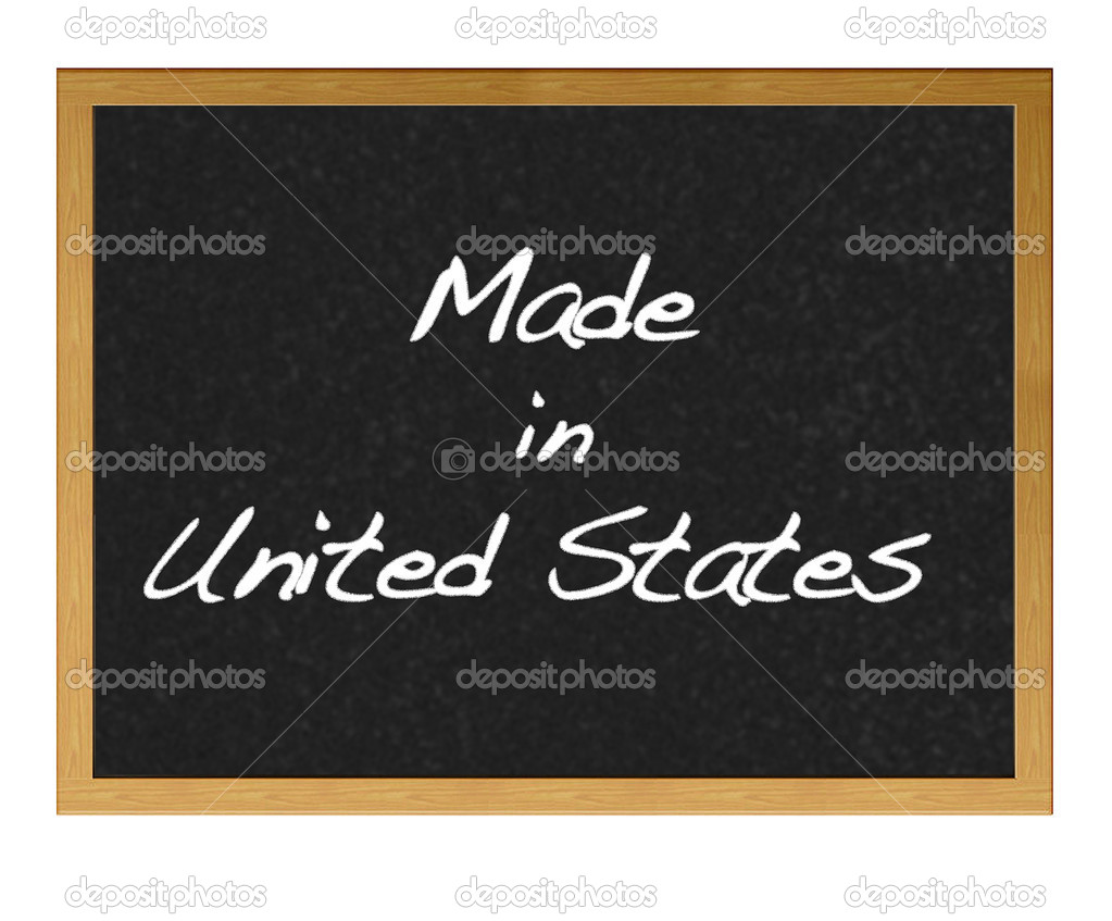 Isolated blackboard with Made in USA. — Stock Photo #8974318