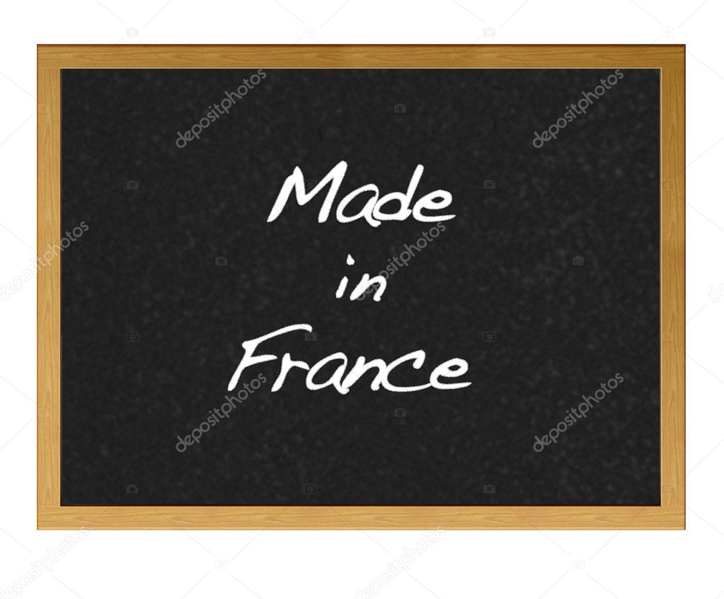 Isolated blackboard with Made in France. — Stock Photo #8974340