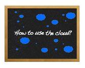 Come utilizzare il cloud?. — Foto Stock