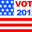 Stock Photo: Vote 2012.