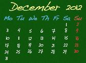 December 2012. — Stock Photo
