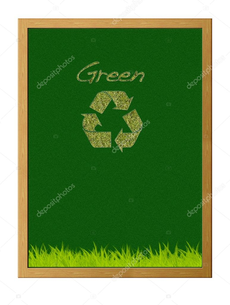 Illustration with green recycle. — Stock Photo #9796419