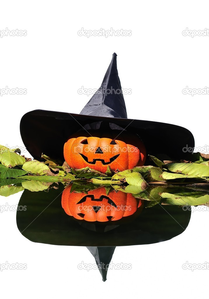 Isolated halloween witch. — Stock Photo #9857097