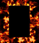 Framework of fire. — Stock Photo
