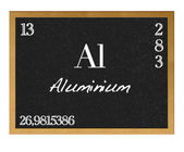 Isolated blackboard with periodic table, Aluminium. — Stok fotoğraf
