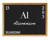 Isolated blackboard with periodic table, Aluminium. — Foto Stock