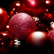 Christmas red spheres — Stock Photo