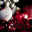 Bicolor Christmas spheres — Stockfoto #10414597