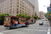 Cable Car, California Street (San Francisco) — Stock Photo