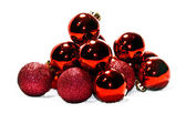 Red Christmas spheres — Stock Photo