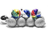 Colorful Christmas spheres — Stock Photo