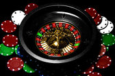 Roulette on black background — Stock Photo