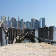 New York Skyline from Liberty State Park - Stock Photo