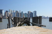 New York Skyline from Liberty State Park — Stock Photo