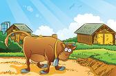 çiftlik arka plan — Stok Vektör