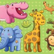 Royalty-Free Stock Vector Image: Cute Animals Collection