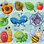 Cute Bugs — Stock Vector