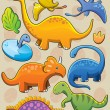 Stock Vector: Dinosaurs Collection