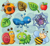 Cute Bugs — Vector de stock