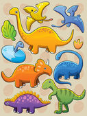 Dinosaurs Collection — Stock Vector