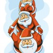 Funny Santa — Stock Vector