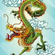 Stock Vector: Chinese Dragon Painting