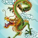 kinesisk drake målning — Stockvektor