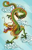 китайский дракон живопись — Cтоковый вектор