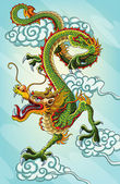 Chinese Dragon Painting — Stok Vektör