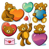 Valentine Cute Bear — Stock Vector