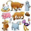 Farm Animals Collection — Stock Vector #8720650