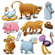 Farm Animals Collection — Stock Vector