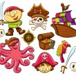Stock Vector: Pirate Collection Set