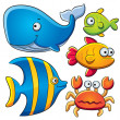 Sea Fish Collection — Stock Vector