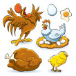 Chicken Collection — Stock Vector