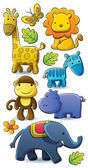 Cute Animals Collection — Stock Vector