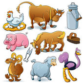 Farm Animals Collection — Stockvektor