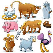 çiftlik hayvanları toplama — Stok Vektör