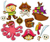 Pirate Collection Set — Stock Vector