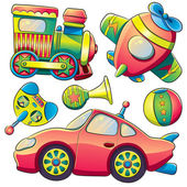 Transportation Toys Collection — Stock Vector