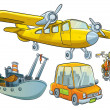 Stock Vector: Vehicle Collection