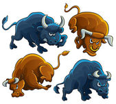Angry Bulls — Stock Vector