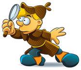 Detective Investigate — Stock Vector